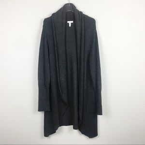 Leith | Dark Gray Drape Open Cardigan | XL